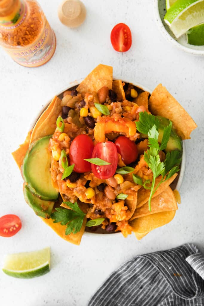 bowl of taco skillet